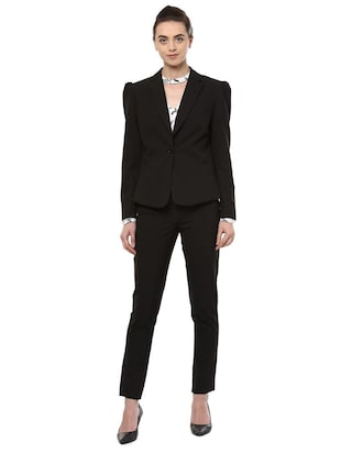 pin striped lapel collar blazer - 15735421 - Standard Image - 3