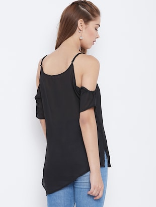 cold shoulder asymmetric top - 15735855 - Standard Image - 3