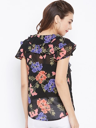 floral ruffled top - 15735885 - Standard Image - 3