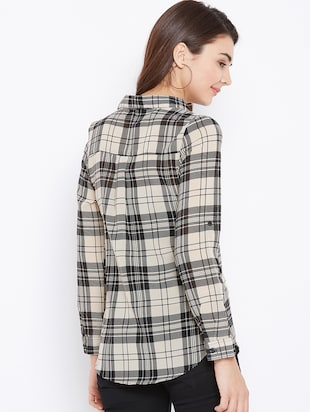 roll up sleeved checkered shirt - 15735935 - Standard Image - 3