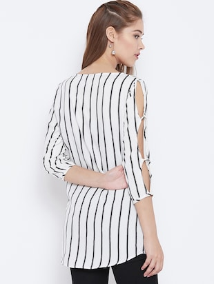 slit sleeved striped tunic - 15736679 - Standard Image - 3