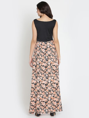 gathered detail floral maxi dress - 15736796 - Standard Image - 3