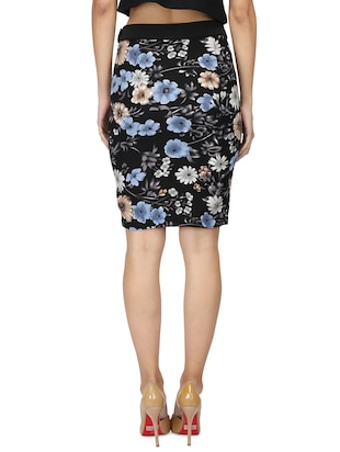high rise floral pencil skirt - 15736809 - Standard Image - 3