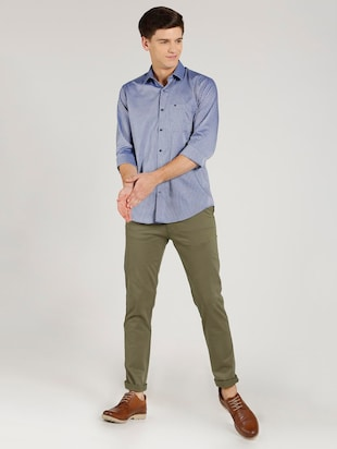 green cotton chinos - 15737583 - Standard Image - 3