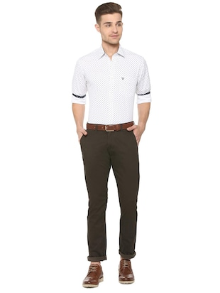 brown cotton chinos - 15737584 - Standard Image - 3