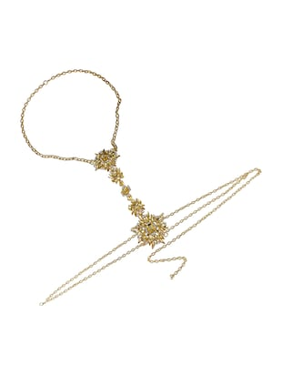 gold metal body jewellery - 15738994 - Standard Image - 3