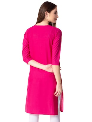 Embroidered straight kurta - 15739047 - Standard Image - 3