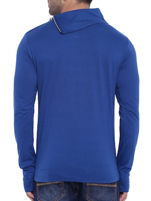 blue cotton thumb hole tshirt - 15739156 - Standard Image - 3