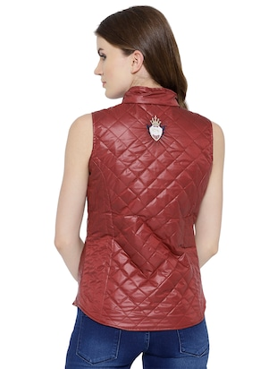 quilted & padded sleeveless jacket - 15748098 - Standard Image - 3