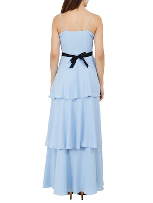 Criss-cross belted layered maxi dress - 15759435 - Standard Image - 3