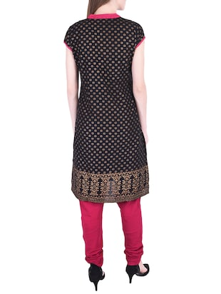 floral printed kurta with churidaar - 15760173 - Standard Image - 3
