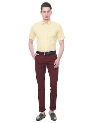 red cotton chinos - 15814606 - Standard Image - 3