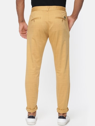 brown cotton chinos casual trousers - 15815358 - Standard Image - 3