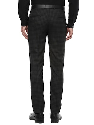51707d06f80 black polyester blend flat front formal trouser - 15817652 - Standard Image  ...