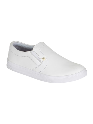 White Slip On Casual Shoes for Women