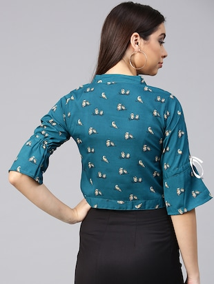 tie knot hem button up top - 15857204 - Standard Image - 3