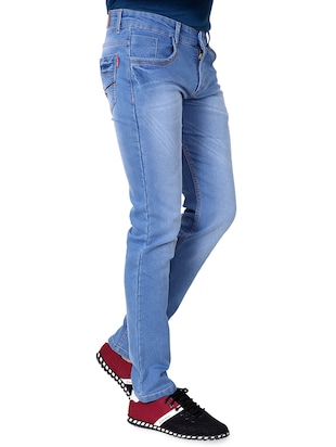 blue denim washed jeans - 15863341 - Standard Image - 6