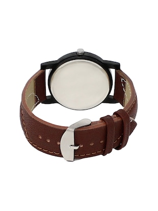 leather strap analog watch (LR-11) - 15865028 - Standard Image - 3