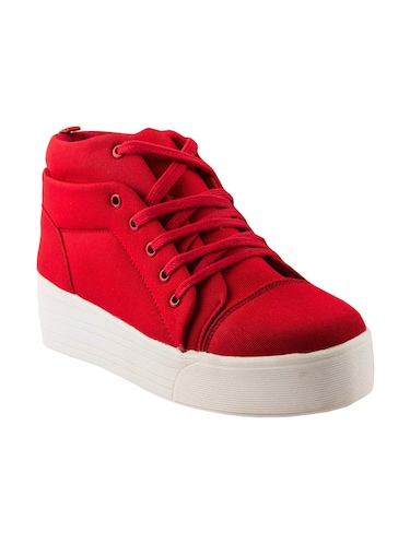 red lace-up sneakers - 15883805 - Standard Image - 1