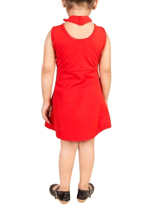 red cotton frock - 15893042 - Standard Image - 3