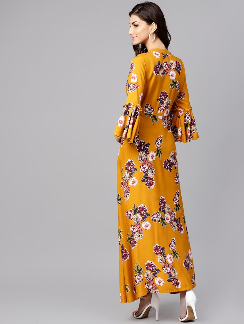 a1ca37316d ... A-line floral bell sleeves dress - 15894319 - Zoom Image - 3