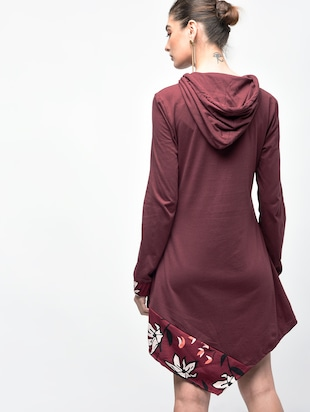 asymmetric hooded dress - 15907076 - Standard Image - 3