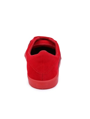 red lace-up sneakers - 15912930 - Standard Image - 3