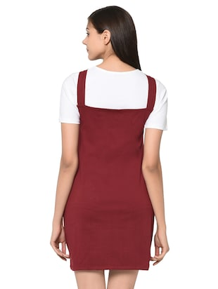 quirky patch pinafore dress with tee - 15914020 - Standard Image - 3