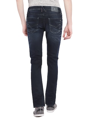 blue cotton washed jeans - 15930478 - Standard Image - 3