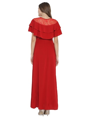 lace paneled maxi dress - 15931044 - Standard Image - 3