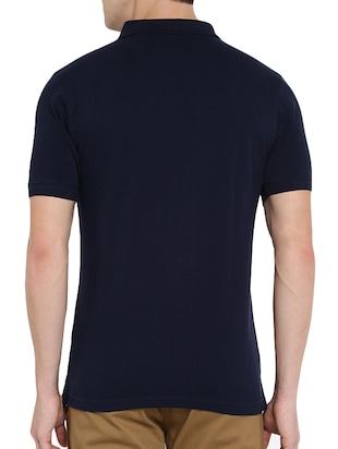 navy blue polyester polo t-shirt - 15932788 - Standard Image - 3