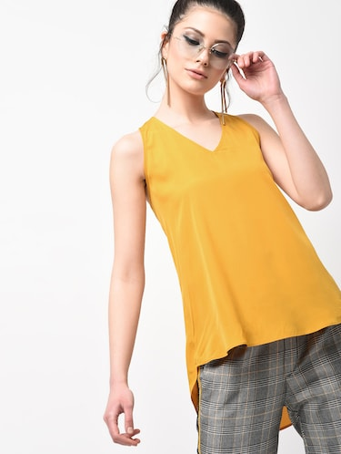 e8cbcaf3 Buy Yellow Colour Tops For Women Western Wear In India @ Limeroad