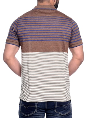 brown striped pocket tshirt - 15972717 - Standard Image - 3