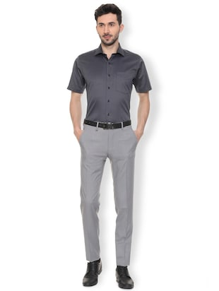 black cotton formal shirt - 15982084 - Standard Image - 3