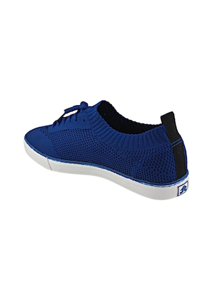 blue Fabric lace up sneakers - 15987824 - Standard Image - 3