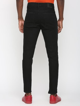 black denim patched jeans - 16003689 - Standard Image - 3