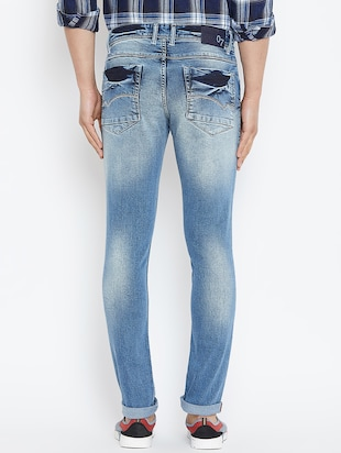 blue denim washed jeans - 16005965 - Standard Image - 3
