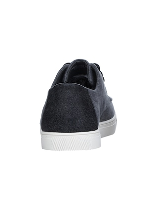 grey Canvas lace up sneakers - 16007905 - Standard Image - 3