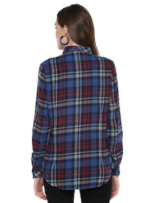 pocket patch checkered shirt - 16009111 - Standard Image - 3