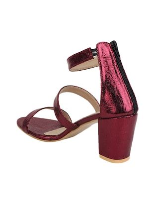 maroon closed back sandals - 16029225 - Standard Image - 3
