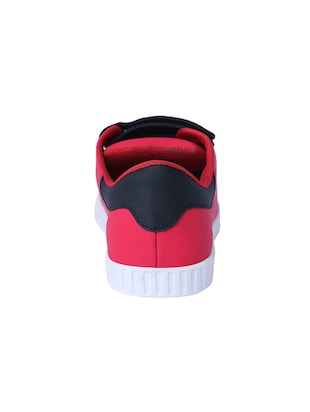 red leatherette slip on sneakers - 16046825 - Standard Image - 3