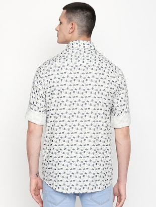 white printed casual shirt - 16059167 - Standard Image - 3