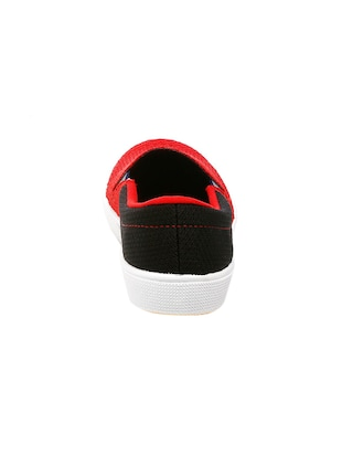 red Fabric casual slip ons - 16077287 - Standard Image - 3