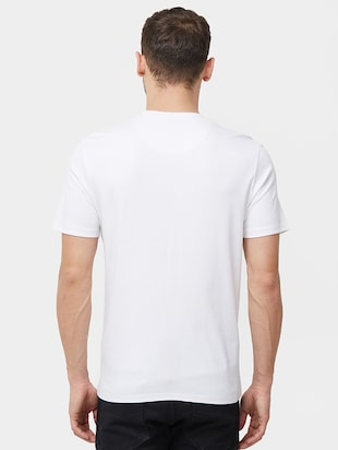 white typographic chest print t-shirt - 16099997 - Standard Image - 3