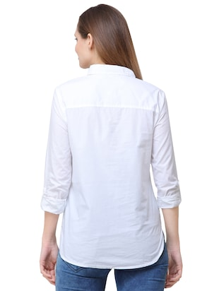 pocket patch pearl embellished shirt - 16104489 - Standard Image - 3