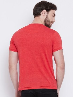 red front print t-shirt - 16105903 - Standard Image - 3