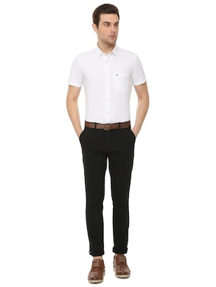 white solid formal shirt - 16106947 - Standard Image - 3