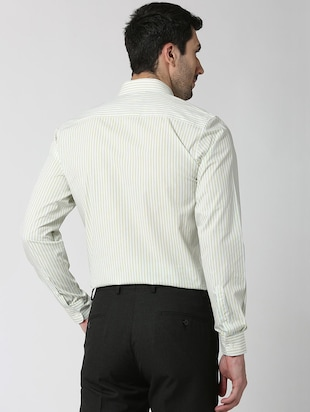 white striped formal shirt - 16107815 - Standard Image - 3