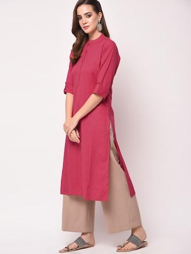 d0a86400b92e Pink Kurtas- Buy Short Silk Kurta