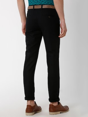 black solid chinos - 16137409 - Standard Image - 3
